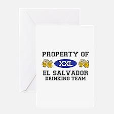 Property of El Salvador Drinking Team Greeting Car
