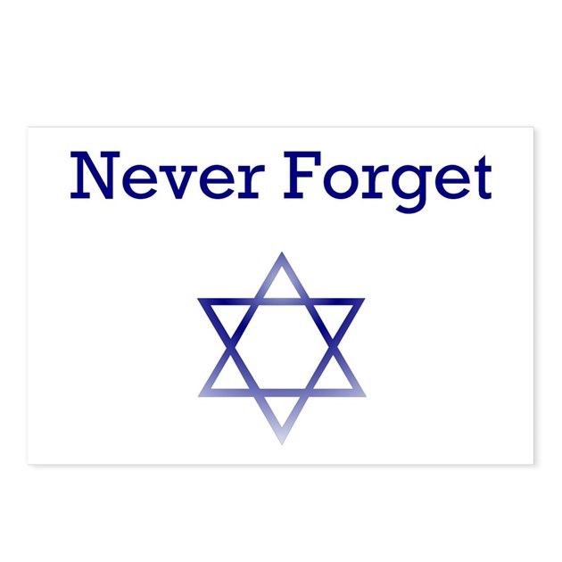 holocaust remembrance star of david postcards pac by