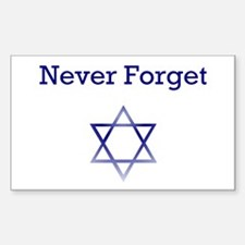 Holocaust Remembrance Star of David Decal
