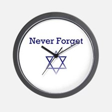 Holocaust Remembrance Star of David Wall Clock