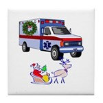 EMS Happy Holidays Greetings Tile Coaster
