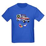 EMS Happy Holidays Greetings Kids Dark T-Shirt