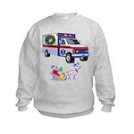 EMS Happy Holidays Greetings Kids Sweatshirt