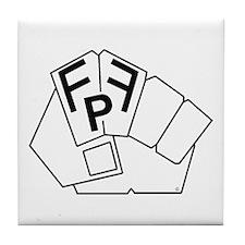 Cute Fist pump Tile Coaster