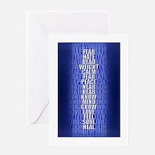 Pillars Blue Greeting Card