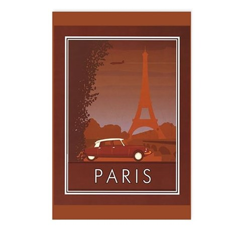 Paris Vintage Eiffel Tower Postcards (Pack of 8)