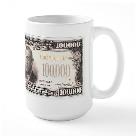 $100,000 Bill Large Mug