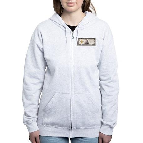 $100,000 Bill Women's Zip Hoodie