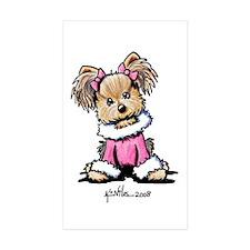 Pink Yorkie Cutie Rectangle Sticker 10 pk)