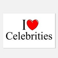"""""""I Love (Heart) Celebrities"""" Postcards (Package of"""