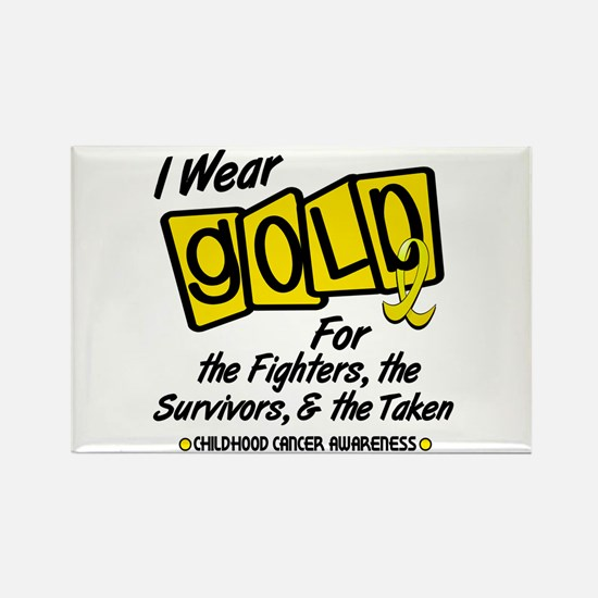 I Wear Gold For Fighters Survivors Taken 8 Rectang