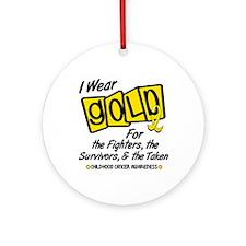 I Wear Gold For Fighters Survivors Taken 8 Ornamen
