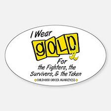 I Wear Gold For Fighters Survivors Taken 8 Decal