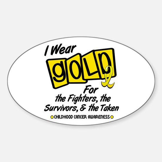 I Wear Gold For Fighters Survivors Taken 8 Decal