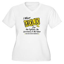 I Wear Gold For Fighters Survivors Taken 8 T-Shirt