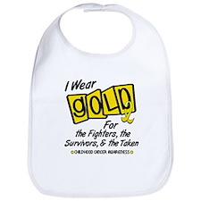 I Wear Gold For Fighters Survivors Taken 8 Bib