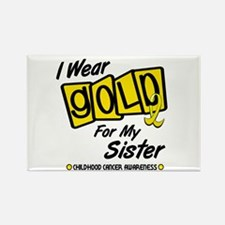 I Wear Gold For My Sister 8 Rectangle Magnet