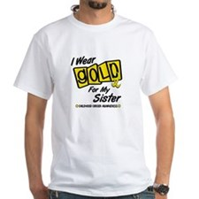 I Wear Gold For My Sister 8 Shirt
