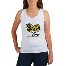 I Wear Gold For My Sister 8 Women's Tank Top