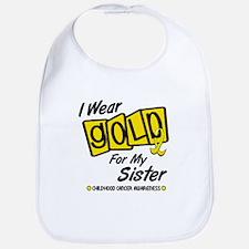 I Wear Gold For My Sister 8 Bib