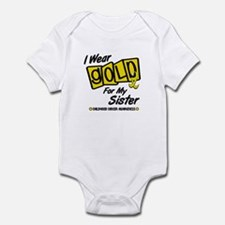 I Wear Gold For My Sister 8 Infant Bodysuit