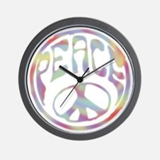 Peace Stamp II Wall Clock
