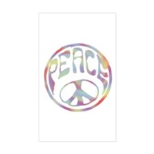 Peace Stamp II Rectangle Decal