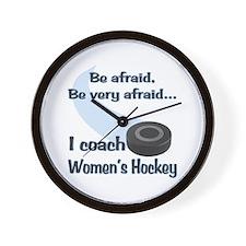 I Coach Women's Hockey Wall Clock