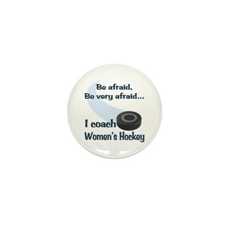 I Coach Women's Hockey Mini Button (10 pack)
