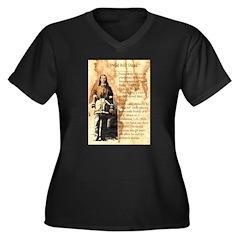 Wild Bill Hickock Women's Plus Size V-Neck Dark T-