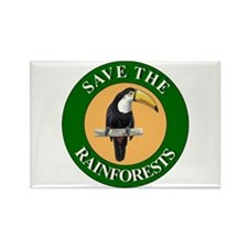 Save Rainforests Rectangle Magnet