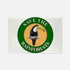 Save Rainforests Rectangle Magnet