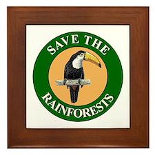 Save Rainforests Framed Tile