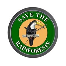 Save Rainforests Wall Clock