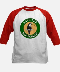 Save Rainforests (Front) Kids Baseball Jersey