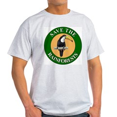 Save Rainforests (Front) Ash Grey T-Shirt