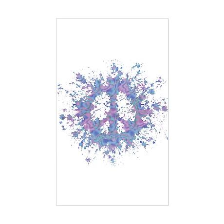 Peace Splat Rectangle Sticker