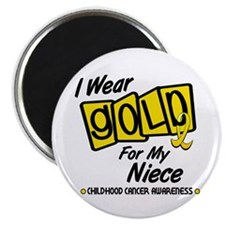 I Wear Gold For My Niece 8 Magnet