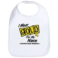 I Wear Gold For My Niece 8 Bib
