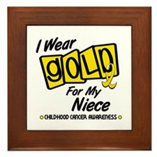 I Wear Gold For My Niece 8 Framed Tile