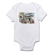 weimaraner and pheasant Infant Bodysuit