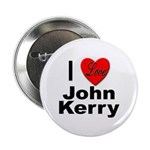 I Love John Kerry Button