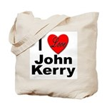 I Love John Kerry Tote Bag