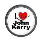 I Love John Kerry Wall Clock