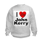 I Love John Kerry Kids Sweatshirt