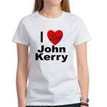 I Love John Kerry (Front) Women's T-Shirt