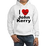 I Love John Kerry (Front) Hooded Sweatshirt