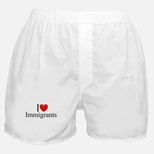 """I Love (Heart) Immigrants"" Boxer Shorts"