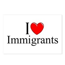 """""""I Love (Heart) Immigrants"""" Postcards (Package of"""