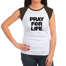 Pray for Life Women's Cap Sleeve T-Shirt